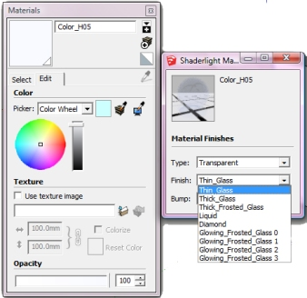 Glass Colour Settings